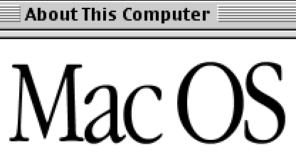 About This Computer Mac OS